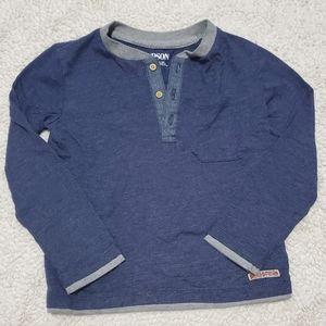Hudson blue long sleeve Henley